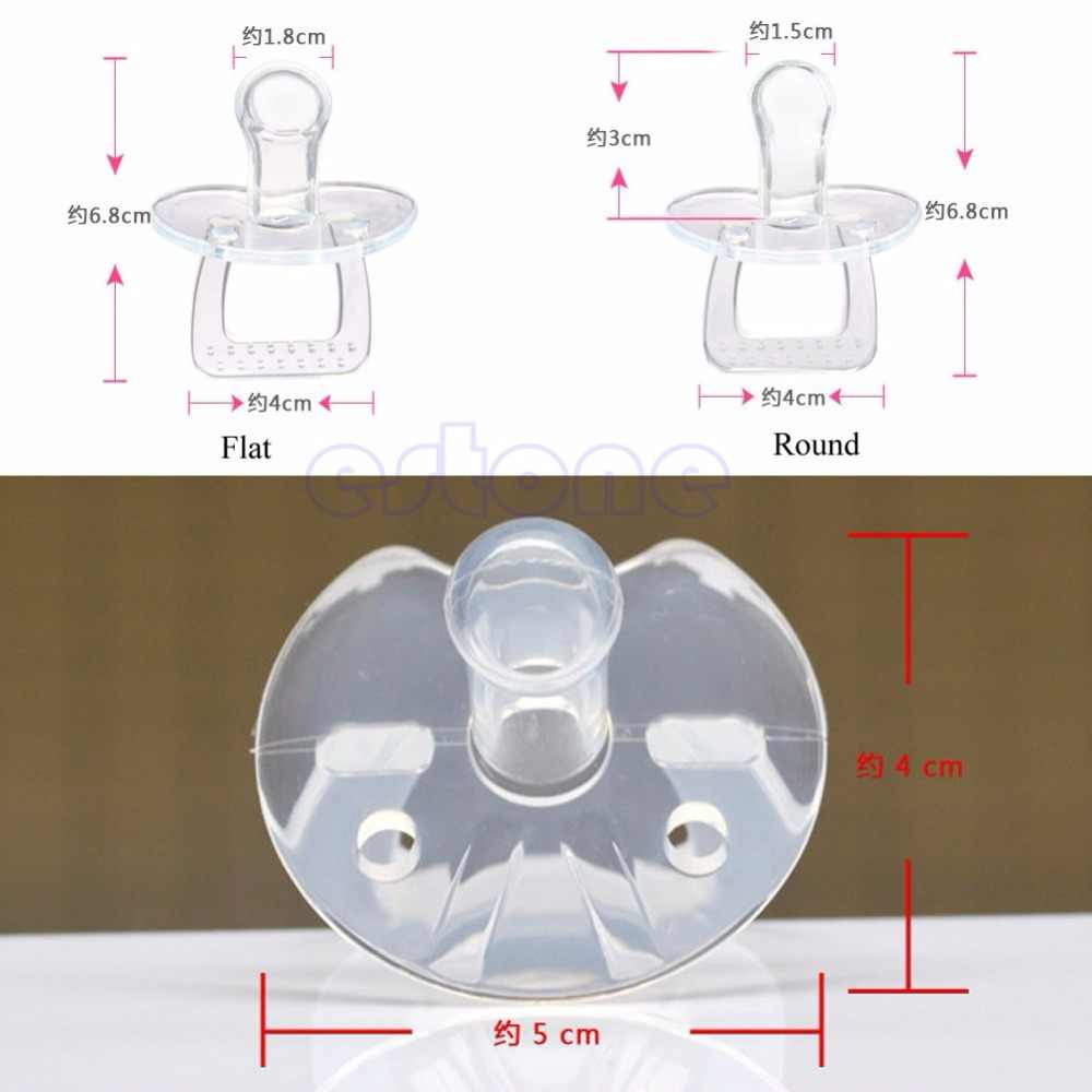 Silicone Baby Child Infant Feed Pacifier Orthodontic Nipple Soother Round Flat  New