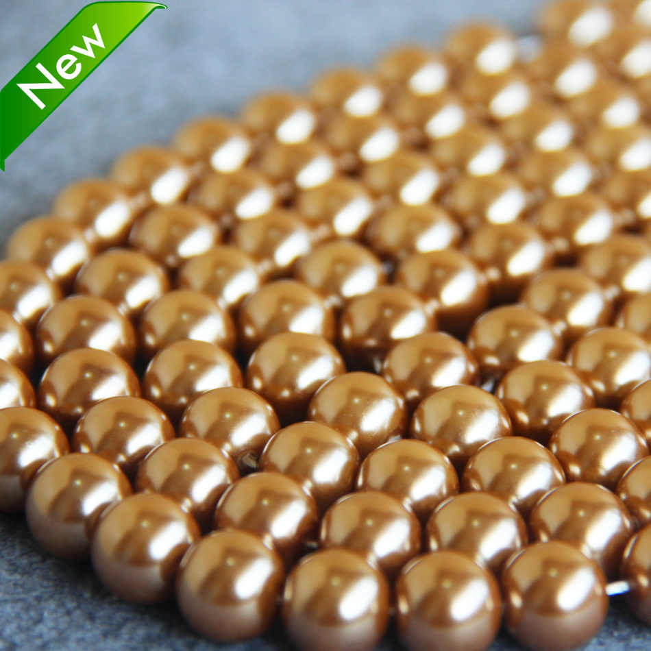 Mới Thời Trang Nóng bán Vàng-Màu Vỏ hạt quà tặng cho phụ nữ girl loose DIY 15 inch Jewelry making thiết kế bán buôn và bán lẻ