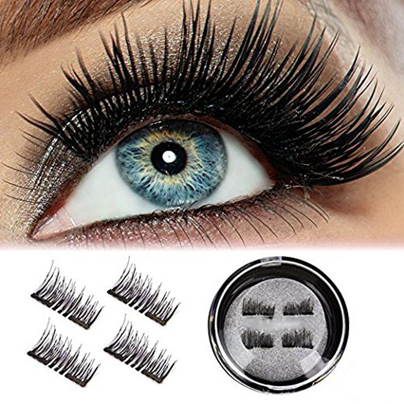ISHOWTIENDA 2018 Ultra-thin 0.2mm Magnetic Eye Lashes 3D Reusable Natural Long False Magnet Eyelashes Extension Dropshipping