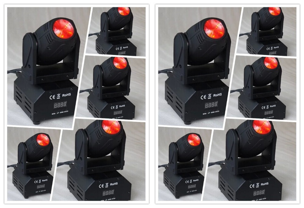 10pcs/lot Mini Led Beam Moving Head 10W Lights RGBW Cree Led DMX 11/13 Chs Stage Light Night Club Disco Moving Head Lighting niugul super dj disco lighting 7x12w led mini wash moving head light led beam dmx stage lighting ktv club led lamp chandelier
