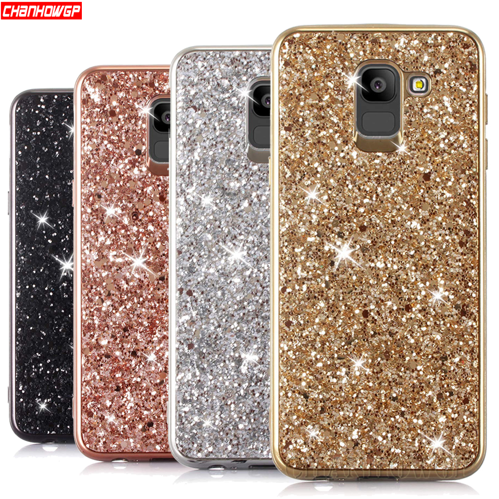 Glitter Soft Bling Case For Samsung Galaxy S6 S7 Edge S8 S9 A6 A8 J4 J6 J8 Plus A7 A9 2018 A5 J3 J5 J7 Neo Note8 9 J2 Prime Case