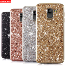 Glitter Bling Soft Case Para Samsung Galaxy S6 S7 Borda S8 S9 A6 A8 J4 J6 J8 Plus A7 A9 2018 A5 J3 J5 J7 Neo Note8 9 J2 Caso Principal(China)
