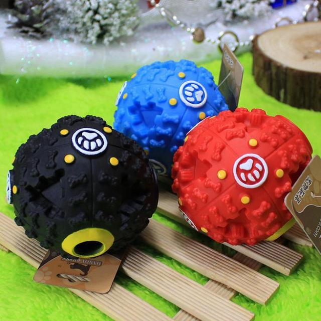 Tang Badi trumpet sound leakage food ball dog toy pet shrieking ball puzzle resistant teeth bite