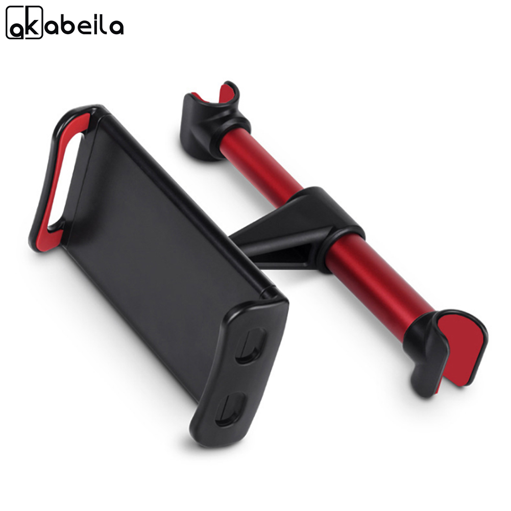 AKABEILA 360 Degree Rotation Car Stand Car Rear Pillow Holder Mount on Seat Fit For Tablet Phone 200mm Width
