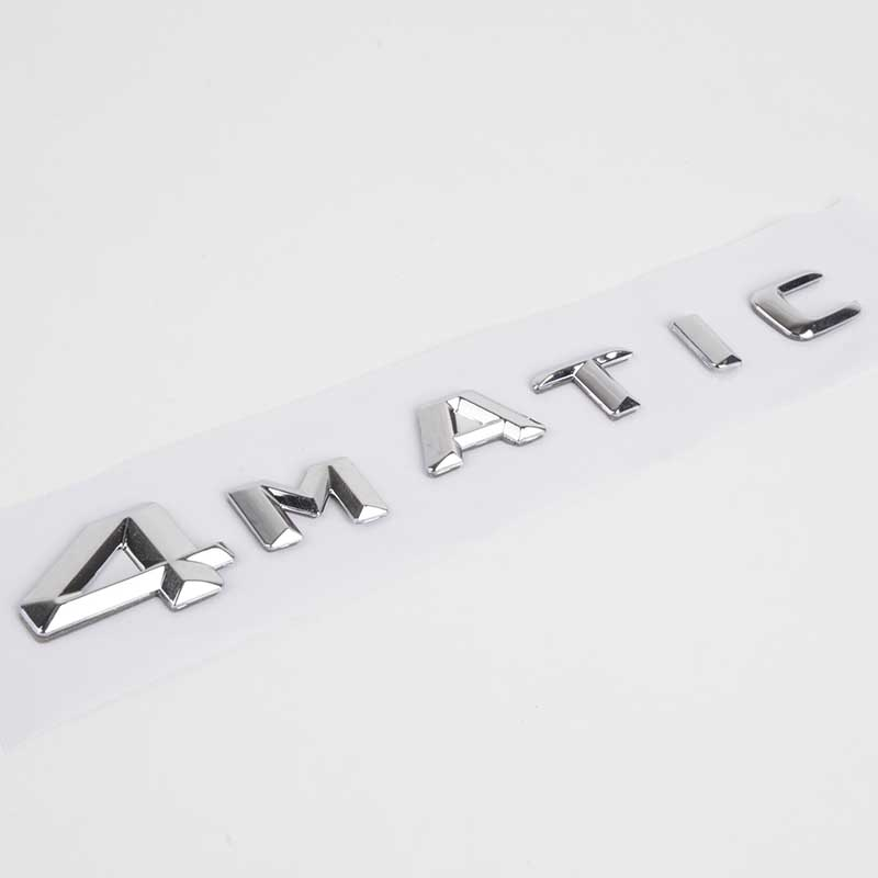 Car Styling Chrome 4MATIC 4 MATIC Logo Emblem Badge Car Rear Trunk Lid Decal Stickers for Mercedes Benz High Quality ABS car styling for mercedes benz g series w460 w461 w463 g230 g300 g350 chrome number letters rear trunk emblem badge sticker