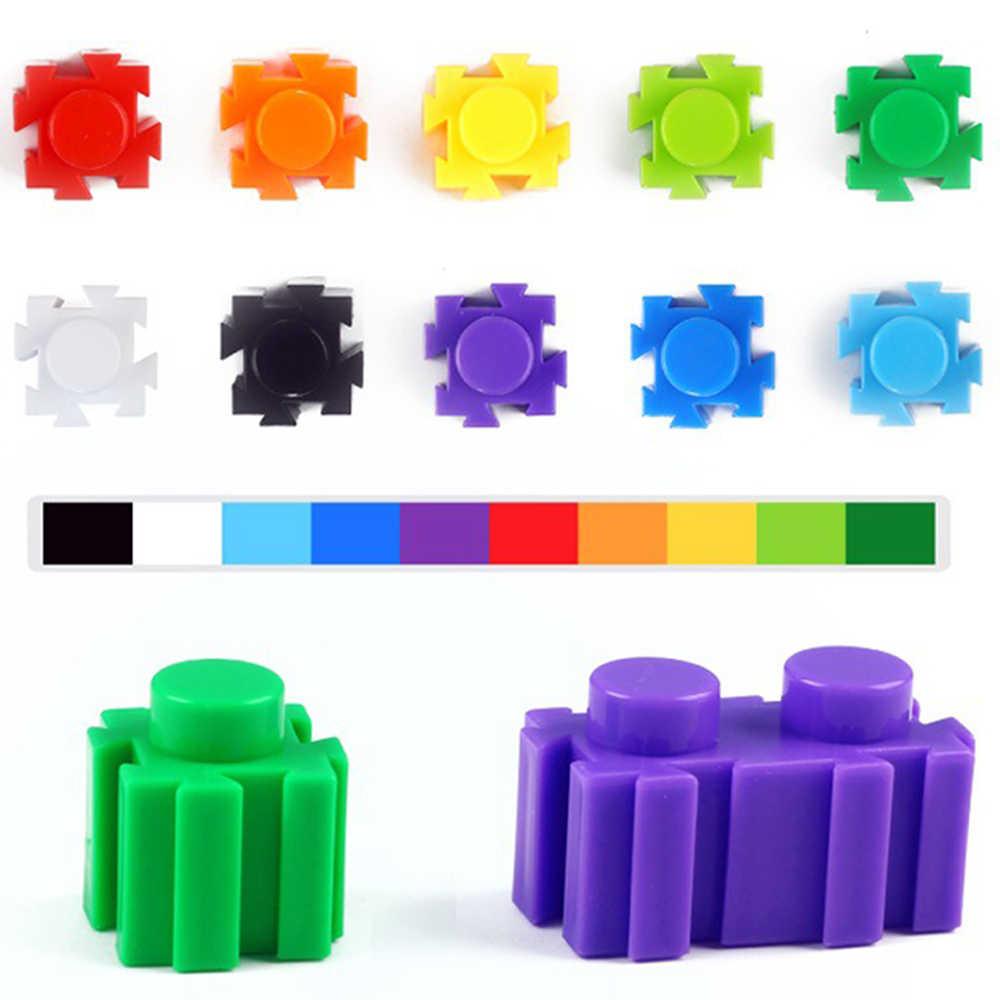 Абсолютно новые мини-Кирпичи игрушки для детей Детские красочные пластиковые Развивающие строительные блоки Снежинка Кирпичи DIY модели 88