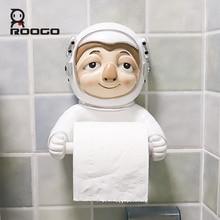 Roogo мультяшное животное Космос астронавт держатель для бумаги туалет керамический ванная комната декоративный диспенсер для бумаги креативный полотенце туалетная бумага