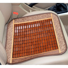 Summer Cool Automobile Seat Cover Bamboo Small Square Pad Mat for Car Anti-slip Cushion Office Single