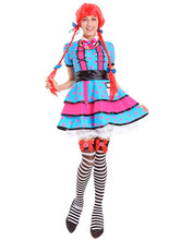 female cute school girl costume funny clown costumes adult cospaly clown clothes suit party dress halloween costumes for women