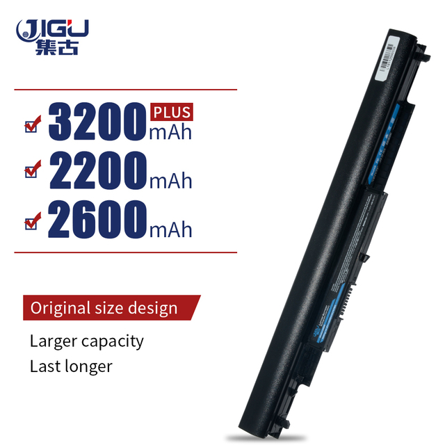 Jigu bateria portátil para hp e notebook, bateria hs03 para port 14 ac0xx 15 ac0xx HSTNN LB6V hs04