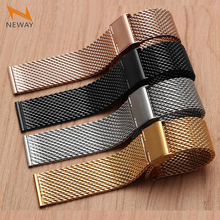 New Stainless Steel Wrist Watchband For Apple Watch Band Strap 38mm 42mm iWatch Band bracelet Rose Gold Black Silver