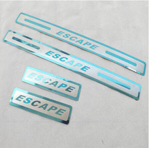 Stainless Steel Door Sill Strip for Ford Escape 2013-2016 Automobile Scuff Plate Pedal Car Styling Sticker Accessories 4pcs