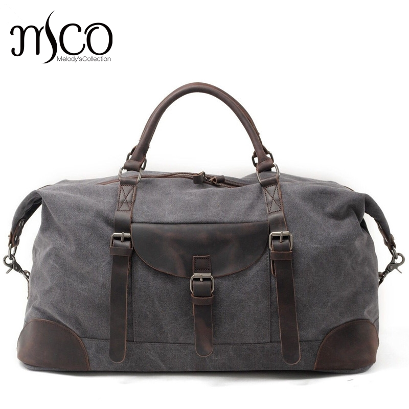 Men Travel Duffle Bags Tod-handle luggage Canvas Vintage Women bag Military Large Capaci ...