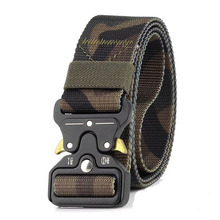 Tactical Belt Mens Multi-function Outdoor Training Hunting and Mountaineering Equipment Braided Cobra Button