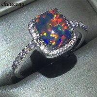Choucong אופנה ליידי המפלגה טבעת 3ct אופל טבעת Cz הלבן גולדפילד טבעות נישואים אירוסין לנשים bijoux