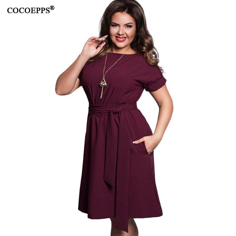 Elegant Sexy 5XL 6XL Plus size Women dresses 2017 Summer vintage office evening party Dress Knee-Length Big size sashes clothes