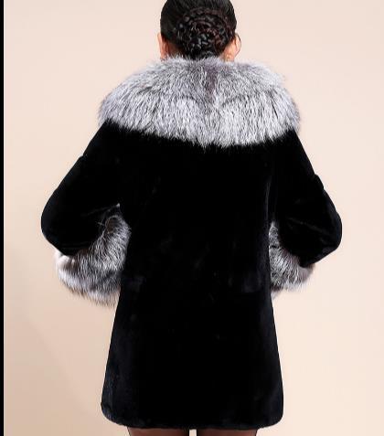 Faux Veste Femme De Grande Vison Fourrure Hiver Femmes Manteau Outwear Taille Artificielle Q919 2019 qwxIgT84