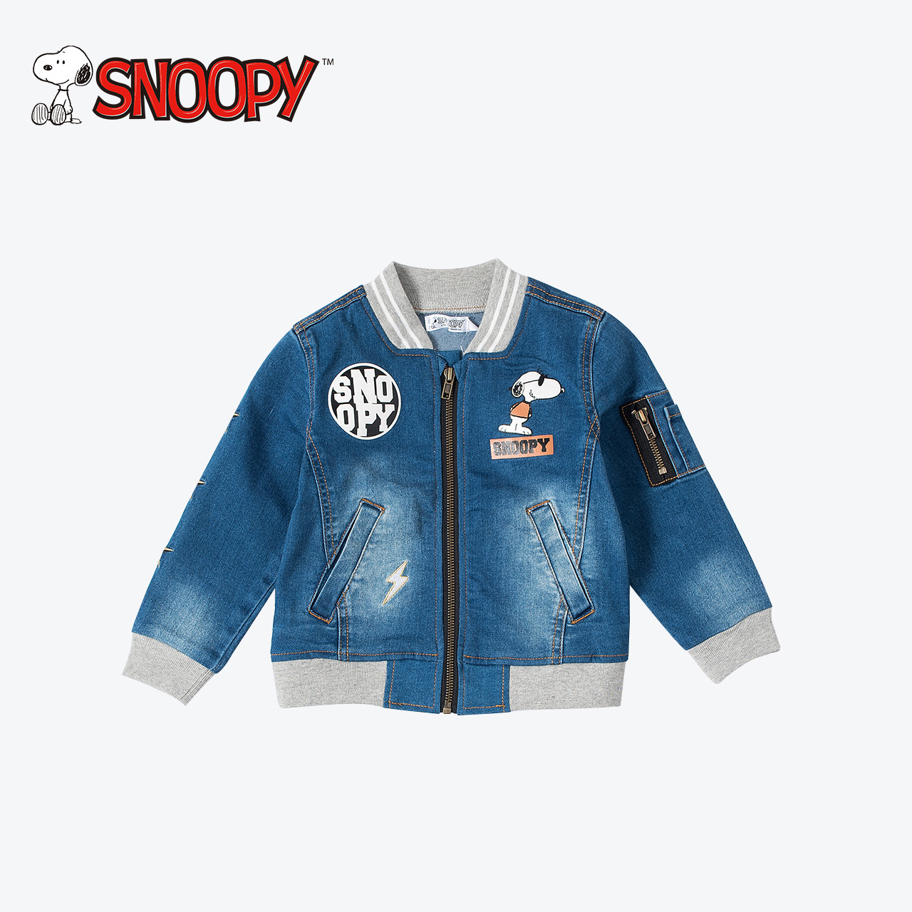 Snoopy Top Quality Spring Baby Boy Jeans Coats Clothes Children Clothing Kids Outwear Cartoon Design Kids Denim Jackets Coats new arrival spring printing pattern cotton 2017 child cartoon design fox baby hooded boy girl jacket outwear coats kids clothing