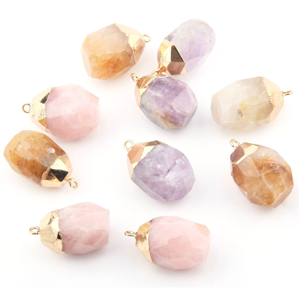 Wholesale 3 Color Irregular Natural Stone Pendant  DIY For Necklace Or Jewelry Making
