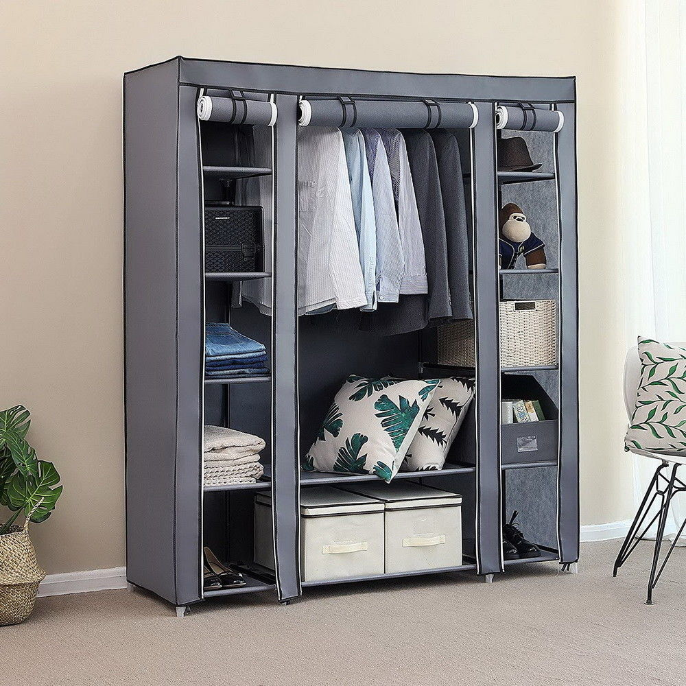 Storage-Organizer Shelves Wardrobe Clothes Portable Home with Us-Warehouse Available