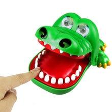 Большой Забавные Игрушки Трюк Крокодил Стоматолог Игрушка Novetly Крокодил Укус Пальца Игры Забавные Игрушки для Детей детский Подарок
