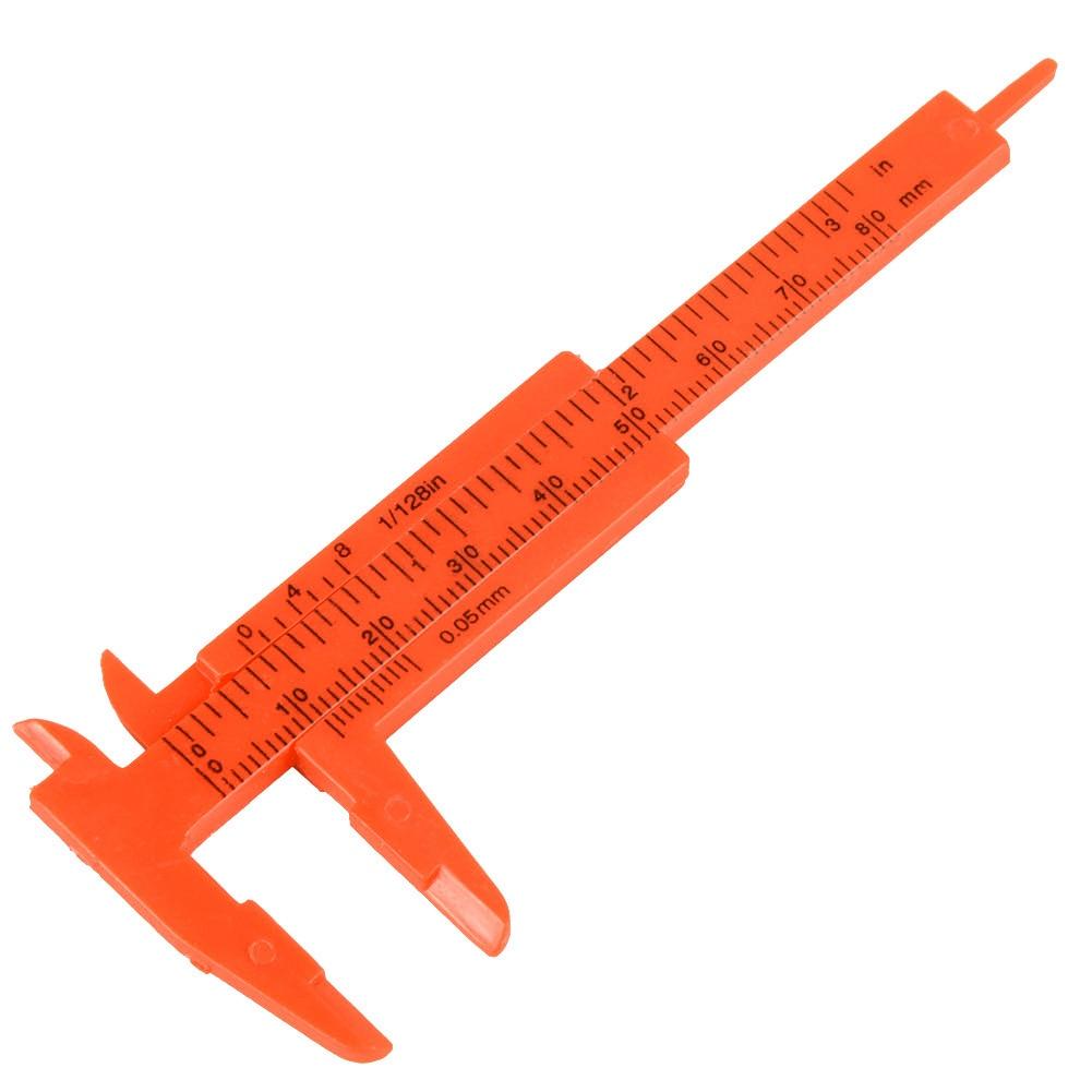 1 PC mini műanyag Vernier féknyeregmérő mikrométer és 1 mm - Mérőműszerek - Fénykép 3