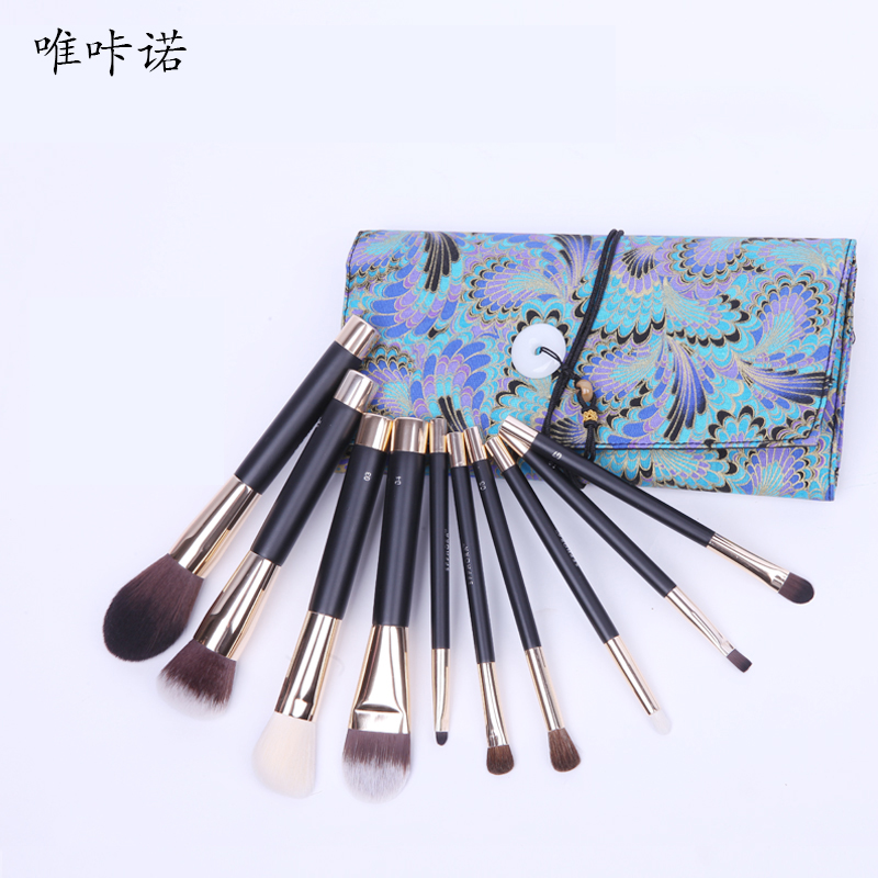10Pcs Makeup Brush Sets Professional Cosmetics Brushes Set Kit + Pouch Bag Case Woman Make Up Tools Pincel Maquiagem New Arrival free shipping professional 10 pcs brand makeup brush pincel maquiagem cosmetic make up brushes set with case bag kit