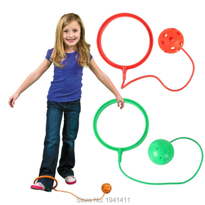 2pcs set Kids Fitness wrapped Around the ankle ball full of vitality Jumping bouncing ball Outdoor
