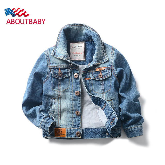 Boys Demin Jackets Fashion Classic Thickened Cotton Autumn Winter Children's Jackets Boys Jean Coats Baby Kids Outwear Clothes