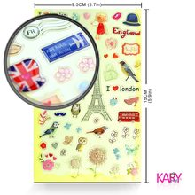 Retro Romantic Paris Tower London Bus Stamp Design Owl Kawaii Emoji Reward Kid Children Scrapbooking Crystal Stickers DIY Craft(China)