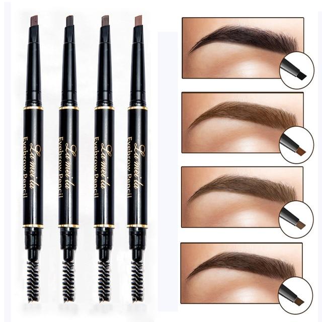 Conjunto de maquillaje de lápiz de cejas marrón negro resistente al agua con tatuaje de pintura de larga duración