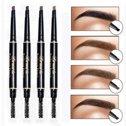 Neue Marke Eye Stirn Farbton Kosmetik Natürliche Lang Anhaltende Farbe Tattoo Augenbrauen Wasserdicht Schwarz Braun Augenbraue Bleistift Make-Up Set