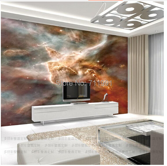 Free shipping custom 3D wallpaper mural wall painting the living room TV backdrop smallpox Star nebula constellation free shipping personalized custom 3d fresh bamboo living room sofa backdrop wall large mural waterproof wallpaper