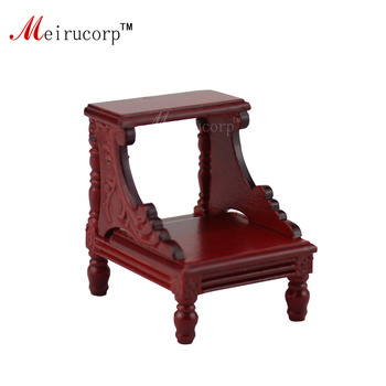 dollhouse 1/12 scale miniature furniture Handcarved foot ladder stool dollhouse 1 12 scale miniature furniture exquisite white hand piano and stool