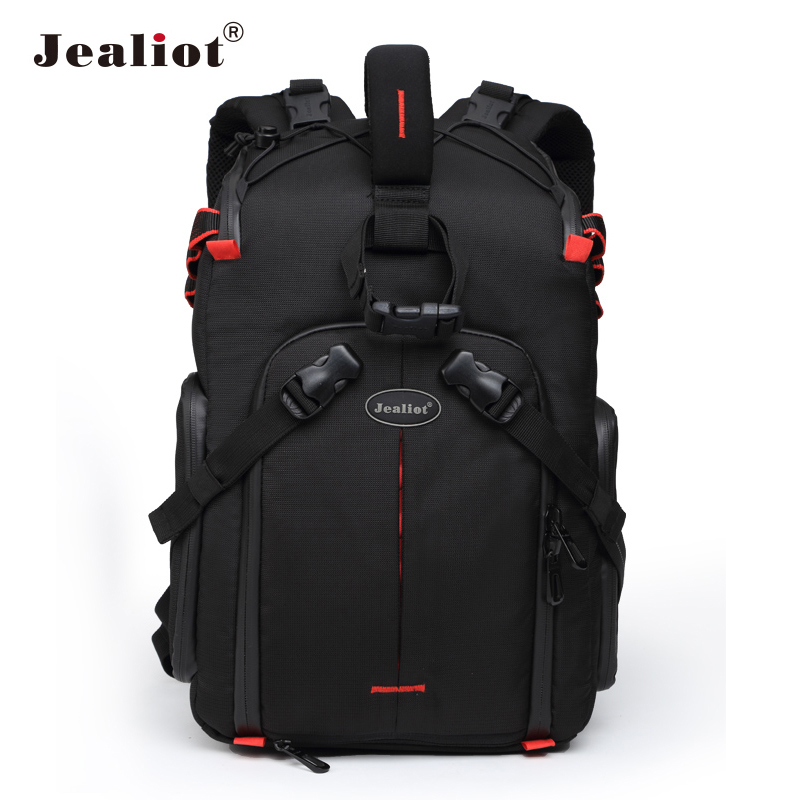 Jealiot SLR Camera Backpack for photo Camera lens Bag laptop Video case digital photography tripod waterproof