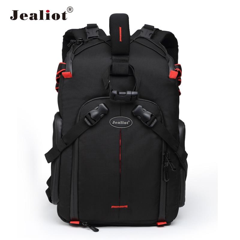 2017 Jealiot Multifunctional Professional Camera Bag laptop Backpack digital camera waterproof Video Photo case for DSLR