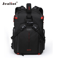 Jealiot SLR Camera Backpack for photo Camera lens Bag laptop Video case digital photography tripod waterproof bag for Canon 50D
