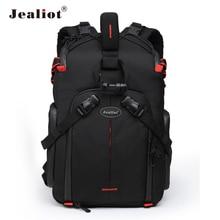 Jealiot SLR Camera Backpack for Camera Bag laptop Video Photo lens case digital photography tripod waterproof bag for Canon 50D