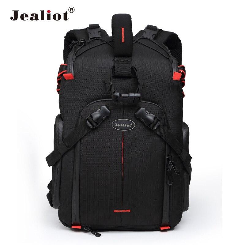 Jealiot sac photo Dslr sac à dos étanche ordinateur portable numérique rouleau fronde avec housse cloison pour Canon Panasonic Nikon Sony