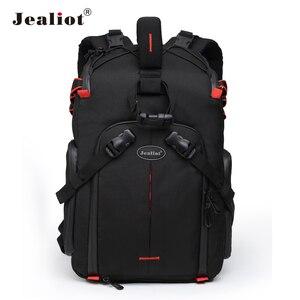 Image 1 - Jealiot сумка для фотоаппарата фоторюкзак рюкзак для фотоаппарата фотосумка чехол сумка для камеры Dslr водонепроницаемый рюкзак для ноутбука цифровой роликовый слинг с чехлом перегородка для Canon Panasonic Nikon Sony