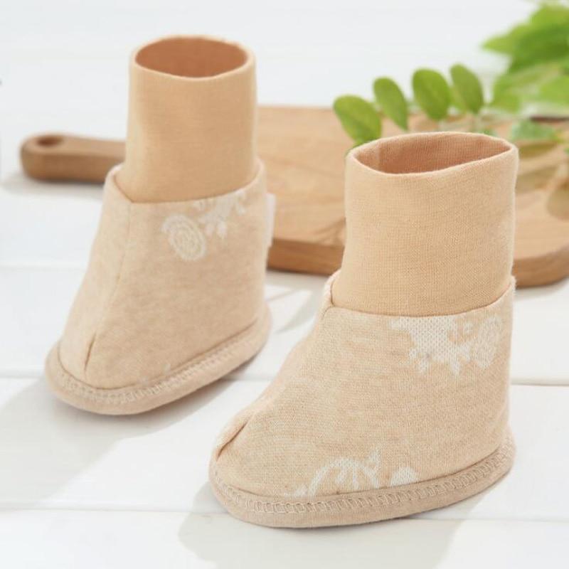 Neue Khaki Baumwolle Gedruckt Baby Schuh Abdeckung Socken 100% Original