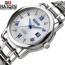2017 New HAIQIN casual Watch Men high-grade Ultra-thin wristwatch male Automatic Self-Wind simple fashion Wristwatch clock hours