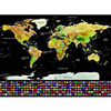 Home Use Deluxe Scratch Map Personalized World Scratch Map Mini Scratch Off Foil Layer Coating Poster
