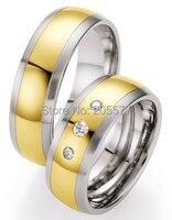 Ручной работы ювелирные изделия тенденции 2014 цвет золотистый здоровья titanium обручальные кольца из нержавеющей стали наборы для женщин и муж