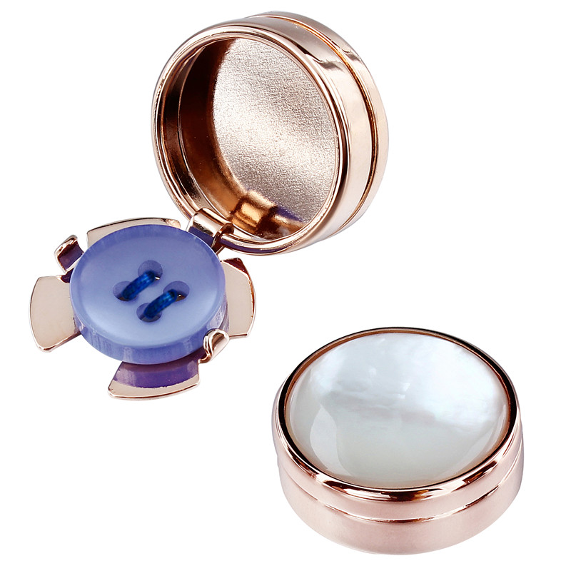 HAWSON Rose Gold Color Button Cover Mother Pearl Cover Button for Mens Clothing Accessory gold button detail bodycon skirt