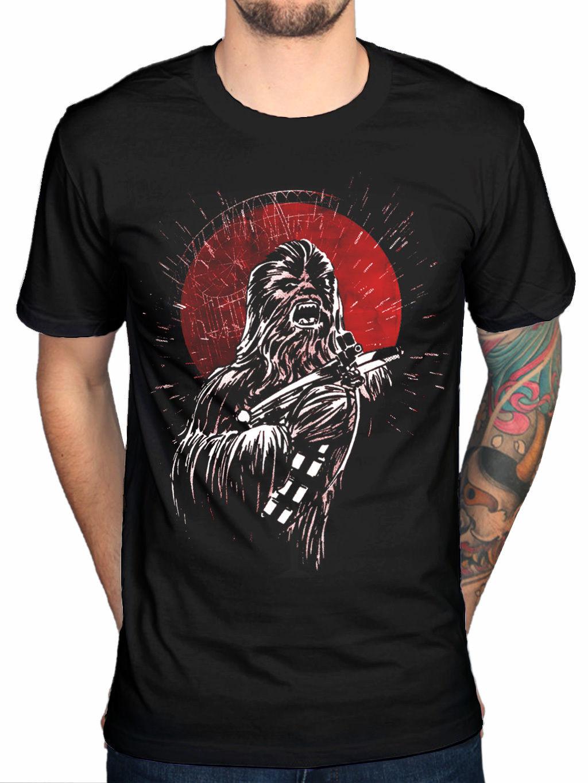 Official Star Wars Chewbacca Scream T-Shirt Darth Vader Movie Merchandise MenS Short Sleeve T shirt Cotton