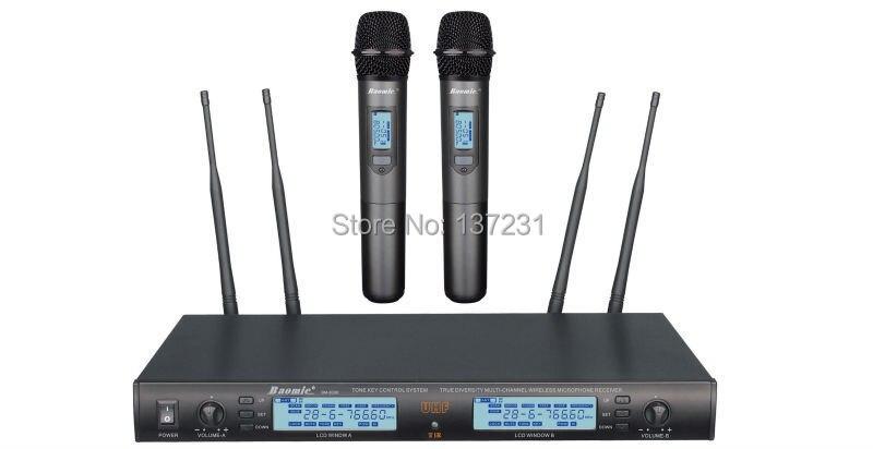 True Uhf PLL 240 ช่องระบบไมโครโฟนไร้สาย Professional Baomic BM 8300 ไมโครโฟนไร้สาย 630 660 MHz 80 m-ใน ไมโครโฟน จาก อุปกรณ์อิเล็กทรอนิกส์ บน AliExpress - 11.11_สิบเอ็ด สิบเอ็ดวันคนโสด 1