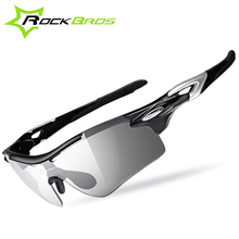 RockBros Photochromic Cycling Glasses + Polarized Sunglasses Black Red Sport Bicycle Bike Glasses Eyewear Gafas Ciclismo 2 Lens