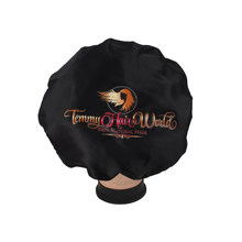 Custom colorful logo printing virgin hair wigs sleeping bonnet, extensions bundles satin bags,wrapping frontal head band tie(China)