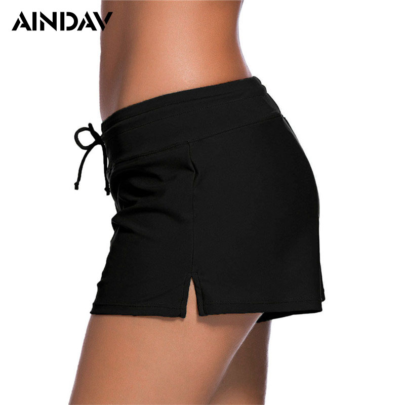 Brand New Women Bikini Bottoms Sexy Boxer Bikini Shorts Tankinis Sporty Panty High Waist Swimwear Bathing Suit Beach Swim Briefs